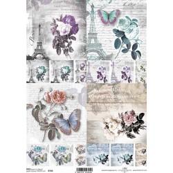 Papír rýžový A4 Motivy s růžemi