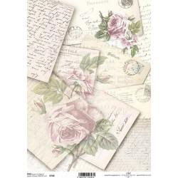 Papír rýžový A4 Dopisy a růže