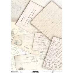 Papír rýžový A4 Zažloutlé dopisy
