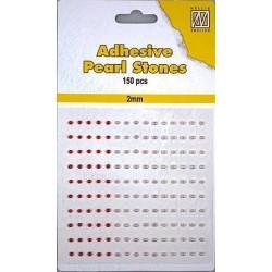 Samolepící perličky 2mm - dočervena Nellie´s Choice
