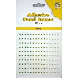 Samolepící perličky 2mm - dozelena Nellie´s Choice