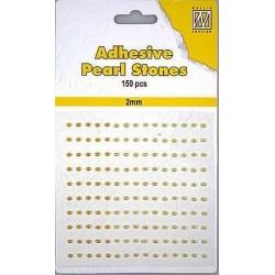 Samolepící perličky 2mm - žlutozlaté Nellie´s Choice