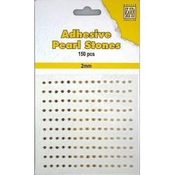 Samolepící perličky 2mm - dohněda Nellie´s Choice