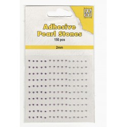 Samolepící perličky 2mm - dofialova Nellie´s Choice