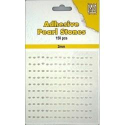 Samolepící perličky 2mm - bílokrémové Nellie´s Choice