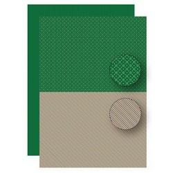 Papír na pozadí A4 - vločky, pruhy v zelenočervené