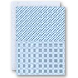 Papír na pozadí A4 - čtverce, káry v modré
