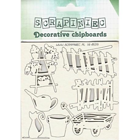 Zahradničení - 7ks chipboards