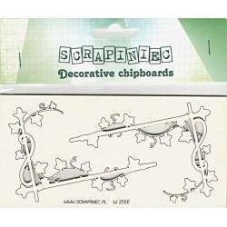 Rohy s břečťanem - 2ks chipboards