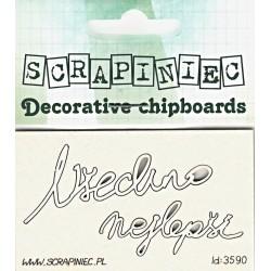 Všechno nejlepší - 2ks chipboards