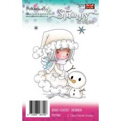 Sada razítek Polkadoodles - Winnie Heavenly Snowman
