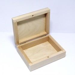 Dřevěná krabička 12x9,5x4cm (zavírání na kolíček)