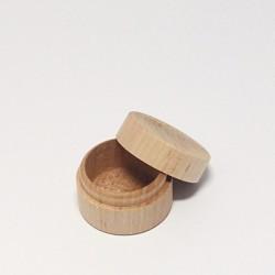 Dřevěná mini krabička na prstýnek, prům.4cm