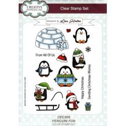 Transp.razítka A5 - veselí tučňáci (16ks)