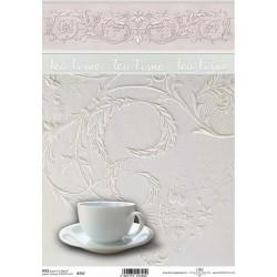 Papír rýžový A4 Tea Time, krajkový reliéf