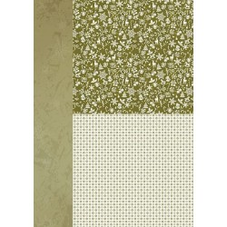Papír na pozadí A4 - vánoční v zelené, drobné motivy