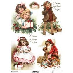 Papír rýžový A4 A Happy Christmas to you