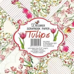 Sada papírů Tulips 20x20 (Decorer)