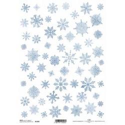 Papír rýžový A4 Sněhové vločky