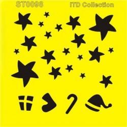 Šablona ITD - Vánoční hvězdy 16x16