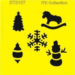 Šablona ITD - Vánoční motivy 16x16
