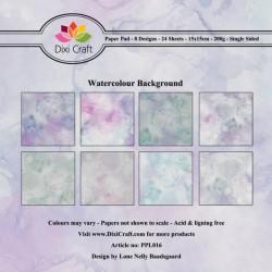 Sada papírů 15x15 Akvarelové pozadí (Dixi Craft)
