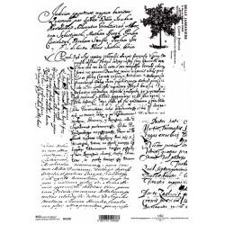 Papír rýžový A4 Vintage rukopis