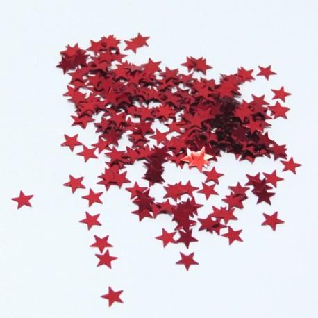 Dekorační glittery - hvězdičky červené (2g)