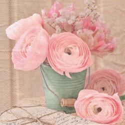 Růže v tyrkysovém kbelíku 33x33