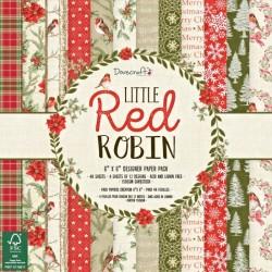 Sada papírů 15x15 Little Red Robin