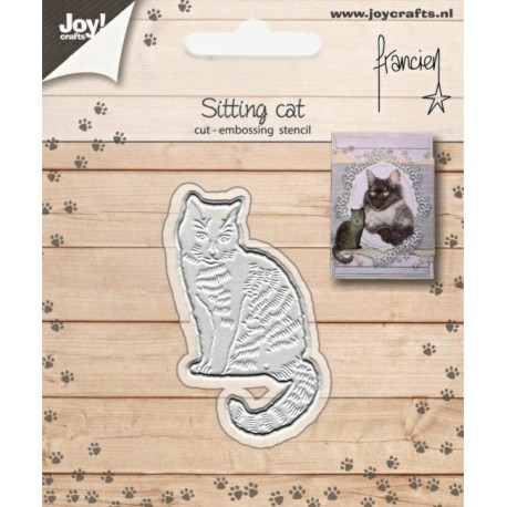 Vyřezávací šablona - sedící kočka (JC)