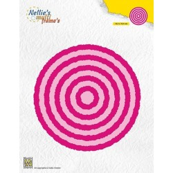 Vyřezávací šablony - Otrhané fotorámečky, kruhy (Nellie´s Choice)