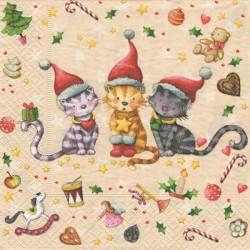 Tři koťata o Vánocích 33x33