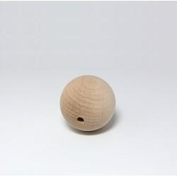 Dřevěná kulička 4cm s dírkou pro zavěšení