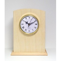 Dřevěné stojací hodiny s ciferníkem, zaoblené