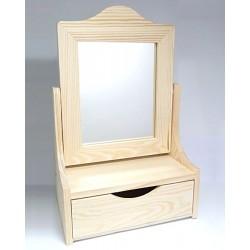 Toaletka se zrcadlem a šuplíkem s výřezem