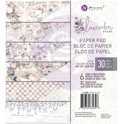 Sada papírů Lavender frost 15x15 (Prima Marketing)