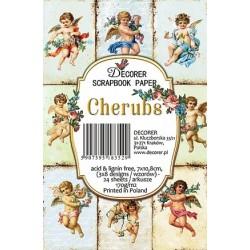 Sada scrap.kartiček 7x10,8cm - Cherubs (Decorer)