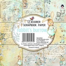 Sada papírů Rabit´s Burrow15x15 (Decorer)