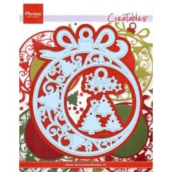 Vyřezávací šablony - Vánoční baňka (MD)
