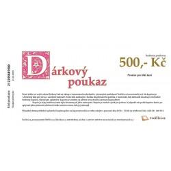 500 Kč - Dárkový poukaz emailem Tvořílci.cz