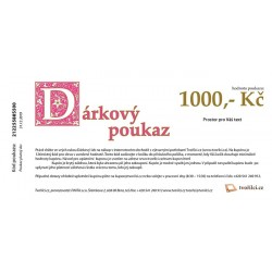 1000 Kč - Dárkový poukaz emailem Tvořílci.cz