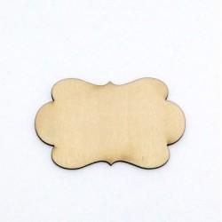 Dřev.dekorace - cedulka ozdobná 8x5cm