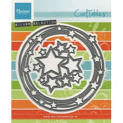 Vyřezávací šablony - kruh s hvězdami (MD)