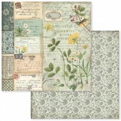 Spring Botanic, pryskyřník 30,5x30,5 scrapbook