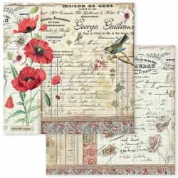 Spring Botanic, vlčí mák 30,5x30,5 scrapbook