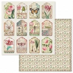 Spring Botanic, visačky 30,5x30,5 scrapbook