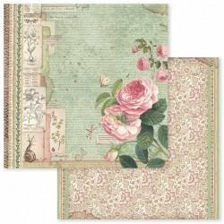 Spring Botanic, růže 30,5x30,5 scrapbook