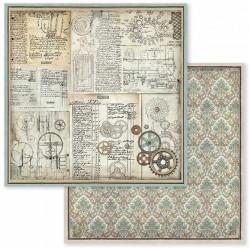 Voyages Fantastiques, ozubená kola 30,5x30,5 scrapbook