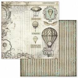 Voyages Fantastiques, balóny 30,5x30,5 scrapbook